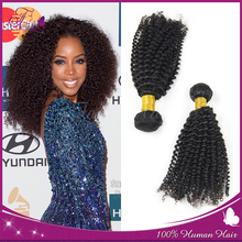 2015 Chinese hair human weft virgin human hair extension Chinese kinky curly