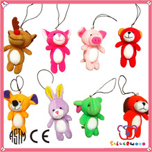GSV certification wholesale cheap mini cute plush fox keychain manufacturer