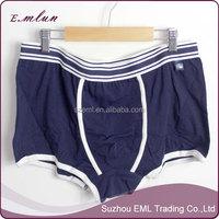 Dark blue casual man thick cotton boxer underwear