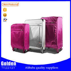 Waterproof nylon super light luggage set 20 24 28 three pcs set trolley luggage
