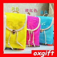OXGIFT Fashion bag Transparent children's candy color package Plastic backpack