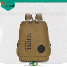 vintage style clear skull customized contracted designer leisure suits canvas backpack for teenage girls & boys