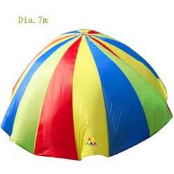 Dia.7m In 4 colors running parachute for outdoor games