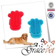 Dog Bath Brush Pets Shower Tools, Palm Shaped Hair Brush, Rubber Massage Brush