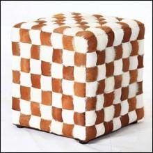 white leather cube stool Josef Hoffmann style chair, kubus stool,cube ottoman