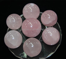 7 Natural rose Crystal Balls on Star of David fengshui crystal ball with different size