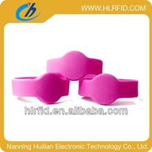 Free sample ! waterproof silicone rfid wristband with logo print