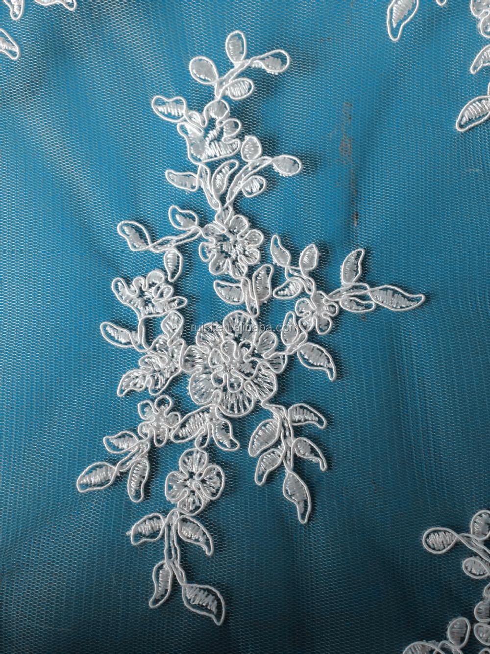El último vestido diseños de marfil cordón cuerda/bordado de tela de ...