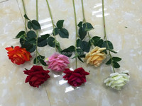 wholesale real touch artificial flower single head natural touch rose