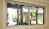 aluminum 3 tracks vertical sliding window