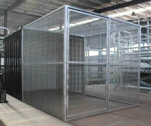 Large iron fence dog kennel