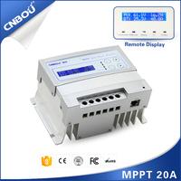 12v/24v 20a mppt solar lcd light controller