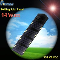 14W folding solar mobile phone charger solar charger for mobile phone 2545ma out put 5.5V 18V