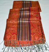 Lotus silk scarf with floral patterns / lotus pattern scarves
