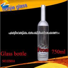 Nuevo diseño de vidrio más populares decorativos 750ml botellas de vino de cristal al por mayor