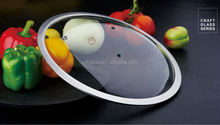 F Type Glass Lid For Stockpot Tempered Glass Cooking Lids Glass Pot Lid