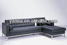 Florence Knoll Corner Sofa in genuine leather