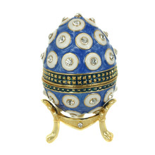 Handcraft rhinestone Crystal Promotion wedding return gift Faberge egg/Easter Egg gift box item home decoration Z-0001-4