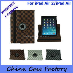 Drop Shipping Cover For iPad Air 2 360 Rotation Cover, For iPad 6 360 leather Cover