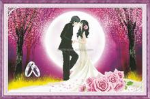 """romance under the moonlight"" New 5D round crystal diy diamond painting"