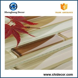 New design glass stone strip mosaic and glass mix stone mosaic tile for wall