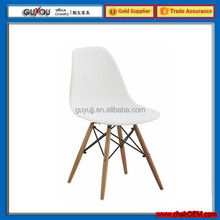 New Design Plastic Dining Chair With Wooden Legs(GY-615)