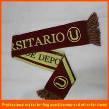 promotional knitted jacquard football team scarf