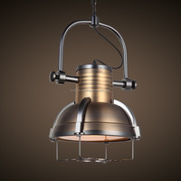 Industrial cage light fixture BL9138 high quality in Antique Brass finishing