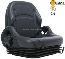 Toyota/Nissan black vinyl MSG65 forklift material handling forklift seats