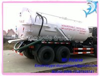 18000 liters new model dongfeng 6*4 septic tank truck