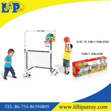 High Quality outdoor sport game set 2 in 1 Basketball & Soccer Goal Game Set