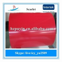 New Scarlet prime and secondary ppgi steel in coil made in zhejiang china/PPGL color coated galvanized steel sheet in coil