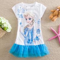 frozen dress elsa dresses for girls of 10 years old QKC-2595