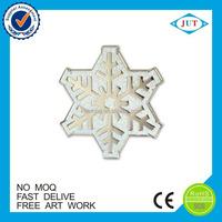 Christmas gifts snowflake design metal badge custom lapel pin