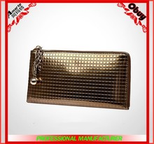 Hot wholesale long pattern vintage genuine leather ladies wallet