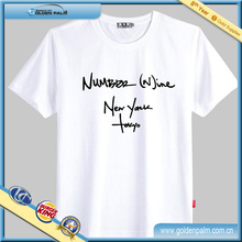 Algodón t camisa diseño con serigrafía para promoción