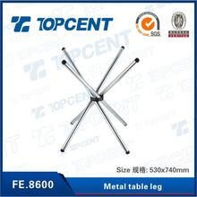 Strong productivity chrome plated rustic metal table legs