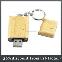 cheap maple material make wooden cross usb flash drive