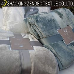 micro fiber fleece blanket/super soft flannel blanket from china blanket supplier