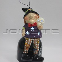 Halloween ceramic ornaments the witch doll