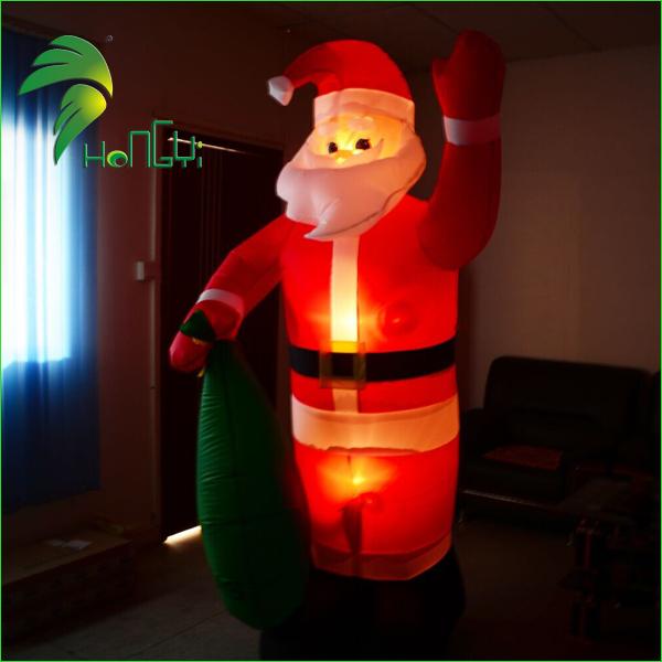 inflatable western christmas decorations santa (6)