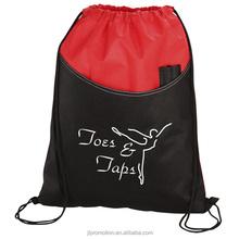 Two-tone drawstring bag with pen pockets Pisces Pocket Sportpack