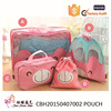 Catoon Print Toiletry and Cosmetic Travel Bag toiletry bag 4 Piece Set