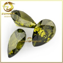 Crystal stones india natural stone decoration synthetic peridot machine cut cubic zirconia thailand