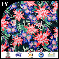 2015 new arrival digital printed silk chiffon with floral pattern