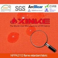 Functional fireproof waterproof fabric for workwear