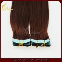 Hot sale 100% brazilian human hair cheap top quality skin weft pu glue virgin tape hair extensions