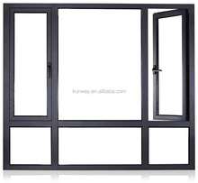 Factory Several Panels Glazed Aluminium Casement Window