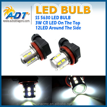 Auto Parts H11 5630 LED Bulb 12+1x3W SMD LED for BMW for AUDI for VW Signal /Fog Tail Bulb Light Super White