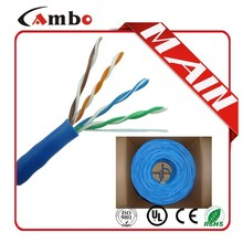 Good quality ISO9001 UL list CMP cat5e/ cat6 cable 0.51mm Bare copper cabling cat5ing